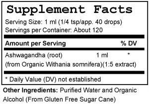 Ashwagandha Supplement Facts