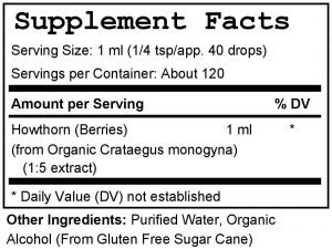 Hawthorn Tincture Facts & Ingredients Handcrafted in CT USA